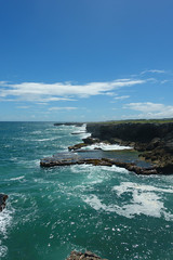 The Sea Meets The Northern Tip Of Barbados (Numinosity (Gary J Wood)) Tags: animalflowercave barbados