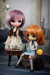 Two of a Kind (dreamdust2022) Tags: grape cute loving love sweet darling hug cuddles tender innocent smart playful pretty pure heart young virgin mother pullip doll poison girl sunshine happy charming curious giggles middle school dal