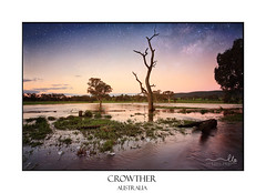 Floodwaters dusk to evening Outback Australia (sugarbellaleah) Tags: floodwaters sky dusk sundown floods auistralia environment weather night evening stars outback tree dead centralwest nsw australia crowther rural landscape scenic picturesque water flooding pretty beautiful universe