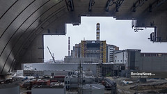 GOV42842 (avgusew) Tags: chernobyl disaster plant nuclear object power arch shelter reactor sarcophagus energy landscape view building construction air photo over station safe explosion aerial infrastructure fourth ukrainian atomic catastrophe tragedy pant confinement anniversary april ukraine kiev 2016 radiation radioactive