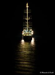 "Wind Star @ Taormina Bay ""by night""... (Alessandro Lo Piccolo Hollweger) Tags: windstar taormina nightscape vessel travel sicily seascape"