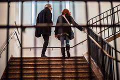 In Motion behind the Banister (*Capture the Moment*) Tags: 2016 architecture architektur f14 innenarchitektur interiordesign leicalenses leitzsummiluxm1475 leitzleica lenbachhaus menschen people sonya7m2 sonya7mii sonya7mark2 sonya7ii sonyilce7m2 staircase treppen treppenhaus visitor