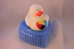 Autism Duck on Soap $4.00 (Clelian Heights) Tags: cleliancenterproducts cleliancenter cleliansoaps decorativesoaps unscented rubberducky asd autism autismawareness