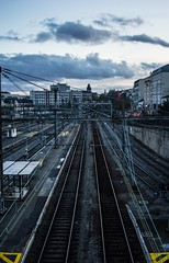 Next train ? Next life... (nrocher) Tags: tran rail works work trains train tram trams metro limoge france limousins limoges nikon d3200 boy french young 16yearsold 16 dark infinity outdoor blue grey gris bleue bleu life next whynot why