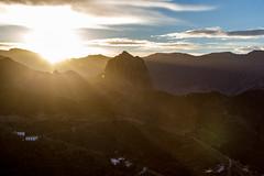 Vallehermoso - Beautiful Valley (The eclectic Oneironaut) Tags: 2016 6d canarias canon eos españa hdr islands islas lagomera spain atardecer sunset vallehermoso sun sol light clouds
