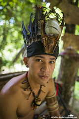 Mari Mari Cultural Village, Sabah, Malaysia-8 (Christian Loader Photography) Tags: borneo christianloader malaysia marimariculturalvillage sabah headdress hat headwear feather bird hornbill beak ivory argus tribe tribal man lundayehtribe traditional tradition culture cultural