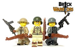 Nov 2016 - Custom Printed WW2 Figs (BrickWarriors - Ryan) Tags: brickwarriors custom lego minifigures weapons helmets armor printed ww2 world war american british german legs torsos military rifle smg guns