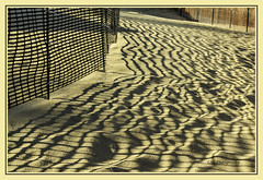 lines, lines, everywhere lines (TAC.Photography) Tags: leadinglines wavylines shadows shadowlines fences snowfence sandybeach beachy sand footprints