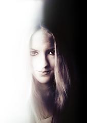 Two sides (light/dark) (Frk Martine) Tags: blondhair hair photoshopportrait girlphotographer beauty norwegiangirl norwegian eyes girls two sides twosides lightdark light dark photoshop photoshopped portrait girl jente portrett face