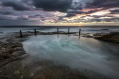 Overflow ivo Rowe (Crouchy69) Tags: sunrise dawn landscape seascape ocean sea water coast clouds sky rocks long exposure ivo rowe pool coogee beach sydney australia