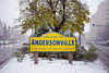 Welcome to Andersonville, Welcome to Winter (Andy Marfia) Tags: chicago andersonville clarkst ashlandave sign welcome winter snow d7100 1685mm 1125sec f45 iso100