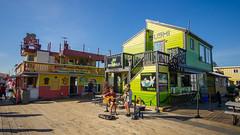 Fisherman's Wharf (Kurayba) Tags: victoria bc british columbia canada pentax k5 summer warm blue sky nice day da 1017 fisheye smcpdafisheye1017mmf3545edif sushi shack mexican seafood rock n rolls puerto vallarta amigos buskers sunny