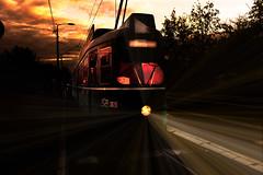 Riding Belgrade (Master Iksi) Tags: tram tramvaj road traffic ride riding outdoor moody night beograd belgrade serbia srbija canon 700d creative light