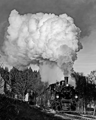 Sorge special departure (Nigel Gresley) Tags: sorge harz 995901 mallett noirblanc steam locomotive east germany