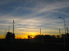 Atardecer (leograttoni) Tags: atardecer sunset campo countryside cielo sky sol sun nubes clouds airelibre buenosaires