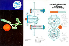 1976 Star Trek birthday card - USS Enterprise (Tom Simpson) Tags: startrek papercraft artsandcrafts birthday birthdaycard vintage 1976 1970s card ussenterprise spaceship