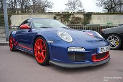 Porsche 911 GT3 RS 997 MKII (Monde-Auto Passion Photos) Tags: auto automobile porsche 911 gt3 rs 997 bleu coup sportive supercar france rally paris evenement