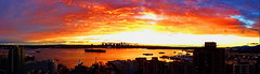 Pano: Another stunning West Coast sunset (peggyhr) Tags: peggyhr sunset portofvancouver burrardinlet ships cityscape panorama dsc09403a vancouver bc canada 25faves 30faves~ heartawards niceasitgets~level2 thegalaxy barges freighters super~sixbronze☆stage1☆ level1peaceawards thelooklevel1red favtop2049fav thegalaxyhalloffame 60faves~