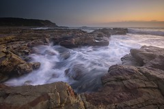 Rock Channel (Paul Hollins) Tags: aus australia newsouthwales swanseaheads nikond750 nikon1635mmf4 seascape ocean sunrise watermovement chalkybeach