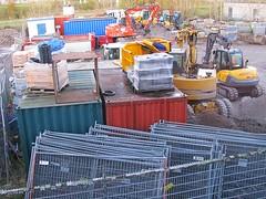 contractor's yard (streamer020nl) Tags: werf aannemer machines contractor yard 2016 251116 fences hekwerk arends atlas flevoland