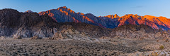 Alabama Hills (Amar Raavi) Tags: alabamahills sierranevada easternsierra lonepine alpineglow alpenglow mountains peak light morninglight sunrise landscape rocks snow morning scenic glow california usa outdoors travel moviespot panorama lonepinepeak mountwhitney sierra rockformations boulders inyo