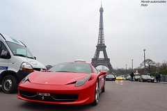 Ferrari 458 Italia (Monde-Auto Passion Photos) Tags: auto automobile ferrari 458 italia coup rouge france rally paris evenement supercar sportive