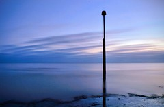 Evening Blues (hall1705) Tags: eveningblues elmer westsussex sea seascape seaside shore d3200 dusk beach longexposure le sand calm sky groyne marker