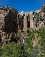 Divided (JKmedia) Tags: spain may 2016 boultonphotography canoneos7dmarkii rhonda mountainous rock landscape bridge arch waterfall manmade 15challengeswinner