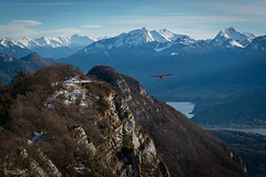 Approaching (Frédéric Pactat) Tags: paysage montagne d 750 mm f nikon d750 afs nikkor fx 2470mm f28g ed 2470 24 70 f28 28 landscape mountains snow neige veyrier mont annecy plane avion approaching hiking