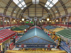 Derby Market Hall (Explored) (Arran Bee) Tags: derby market hall derbyshire stalls indoor victorian landmark england uk midlands iphone 6s plus colours colour roof architecture building historic