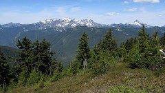 Monte Cristo Peaks and Sloan Peak from Benchmark Mountain (Mike Dole) Tags: cascades washingtonstate henrymjacksonwilderness mtbakersnoqualmienationalforest montecristopeaks sloanpeak westcadyridge benchmarkmountain