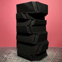 (mike.tanis) Tags: sculpture tower art architecture paper paperart design origami folding papercraft pleats