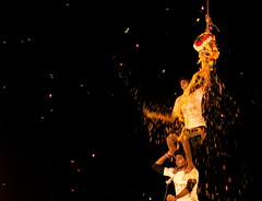 Janmashtami Celebration(Dahi Handi) (PicturePursuit) Tags: festival canon pyramid indian lord celebration human krishna handi janmashtami dahi 700d