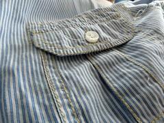 camisa reciclada #1 (Monte de Linhas) Tags: handmade artesanato fabric alentejo aventais tecidos babete toalhas costavicentina sacomaternidade feitomao montedelinhas
