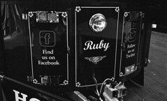 Ruby - The Potato Tram (Man with Red Eyes) Tags: monochrome analog blackwhite fastfood tram 15 rangefinder potato lancaster ruby iv leicam2 100iso homedeveloped semistand presoak adox 11100 silverhalide 73degrees sunnysixteen pyrocathd summicron35mmf2 5mins v850 silvermax