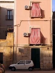 Trapani Postcard (Anna Che) Tags: sunset italy sun house car italia balcony sicily sicilia trapani