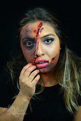 Two-Face (Hey_Lee! Photography) Tags: 2 two portrait halloween beauty face effects scary blood rip makeup special horror torn macabre fx 2015 heylee heyleephotography