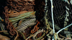 Rope and chain. (Paul Michelmore) Tags: scotland fishing aberdeenshire harbour rope chain shackle lobsterpot crabpot rosehearty