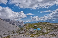 Nel percorso delle Tre Cime (marypink) Tags: sky mountains reflection clouds montagne nuvole pov cielo unescoworldheritage riflesso laghetto trentinoaltoadige dolomitidisesto nikond800 nikkor1635mmf40 percorsodelletrecime
