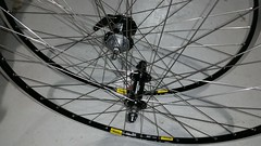 sturmey-s2c-deore-mavic-open-pro-wheelset-detail (Practical Cycles) Tags: bicycle mavic sturmeyarcher handbuiltwheel