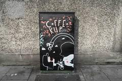 COFFEE CUP CATS [TRAFFIC BOX TSB9M STREET ART 79 CHANCERY STREET]-110158