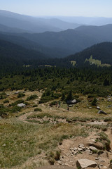 view from the mountain Petros (intui.pro) Tags: camping mountain mountains green field forest landscape view outdoor hiking meadow ukraine september pasture grassland spruce carpathian petros