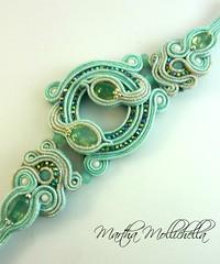 Soutache bracelet and swarovski crystals (La Casina di Tobia) Tags: crystals bracelet swarovski con bracciale cristalli soutache