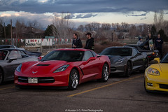 Vettes (Hunter J. G. Frim Photography) Tags: red cars chevrolet coffee colorado lafayette stingray boulder chevy american corvette supercar v8 chevroletcorvette c7 carsandcoffee chevroletcorvettec7stingray