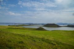 Pseduocrateri, lago Myvatn (fabrizioboni00) Tags: sky panorama moon verde green lago iceland natura luna cielo myvatn vulcano cratere islanda krafla crateri pseudocrateri