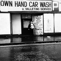 Best Car wash in Town - wash your own (TomLeong100) Tags: auto street england urban abandoned rain reading grim gritty carwash shelter fishandchips rundown passingby britishweather drizzling ozgfk justinbeiberlookalike