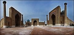 Registán (bit ramone) Tags: uzbekistan samarkand timur panorámica samarcanda tamerlan bitramone pentaxk5 registán timerlan