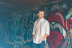 Flaring underground (Smackthatbird) Tags: blue winter red portrait male guy abandoned film portraits underground virginia cool model downtown december artistic exploring awesome 85mm naturallight tunnel guys artsy oxford lensflare d750 harrisonburg drains sewers urbex lookslikefilm