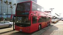 高雄客運雙層觀光露天巴士-高雄市夢時代前-Kaohsiung Touring Bus, Kaohsiung City, Taiwan