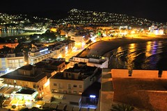 Peniscola at night (nick taz) Tags: night town beach shore dark peniscola spain